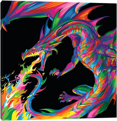 Fantasy Dragon Canvas Art Print