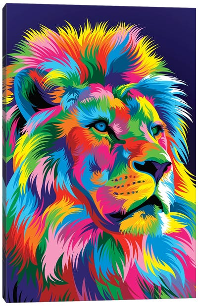 Lion New Canvas Art Print