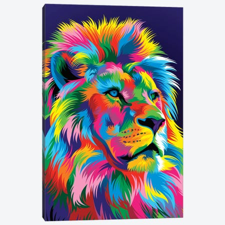 Lion New Canvas Print #BWE8} by Bob Weer Canvas Wall Art