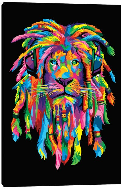 Lion Rasta Canvas Art Print