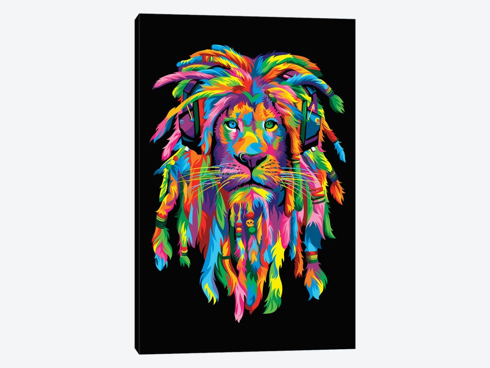 Lion Rasta 1-piece Canvas Art Print