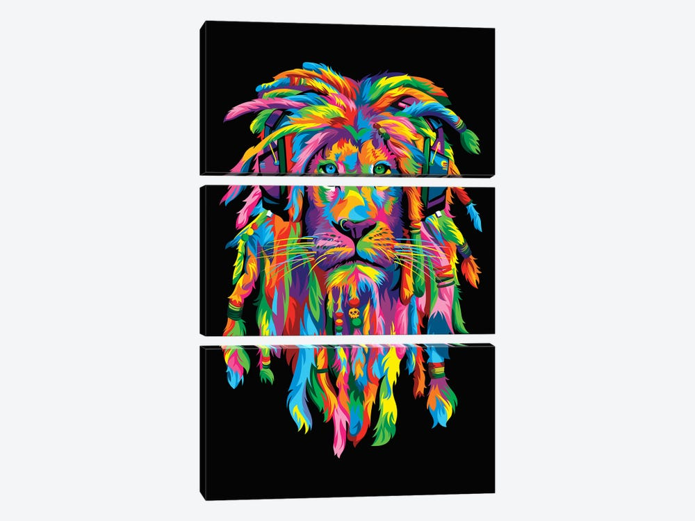 Lion Rasta 3-piece Art Print