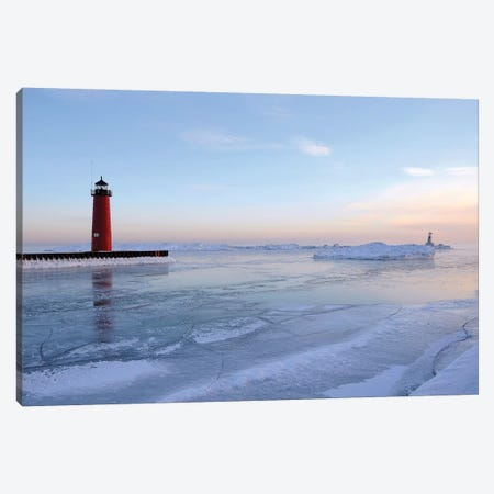 Frozen Harbor Canvas Print #BWF135} by Brian Wolf Canvas Print