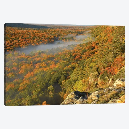 Autumn Colors At Lake Of The Clouds Canvas Print #BWF19} by Brian Wolf Canvas Wall Art
