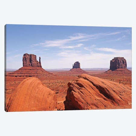 Monument Valley 3-Piece Canvas #BWF204} by Brian Wolf Art Print