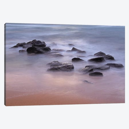 Morning Shoreline Canvas Print #BWF214} by Brian Wolf Canvas Wall Art