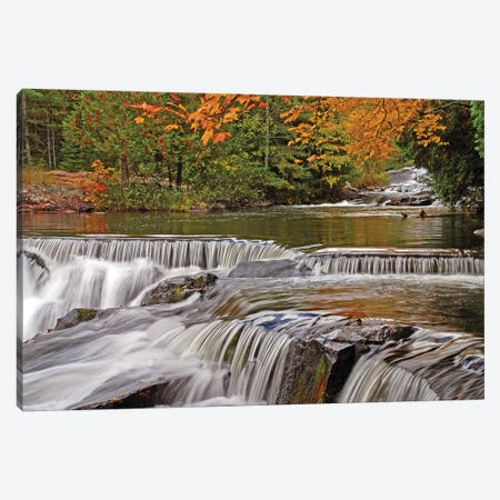 Autumn Cascades Canvas Print #BWF21} by Brian Wolf Canvas Art Print