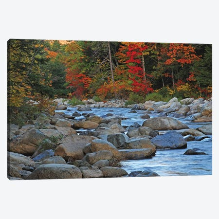 New Hampshire Stream Canvas Print #BWF225} by Brian Wolf Canvas Print