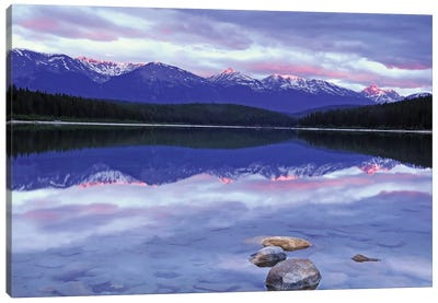 Patricia Lake at Sunrise Canvas Art Print