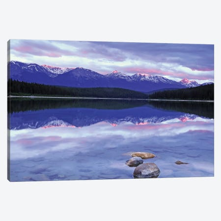 Patricia Lake at Sunrise Canvas Print #BWF241} by Brian Wolf Canvas Art