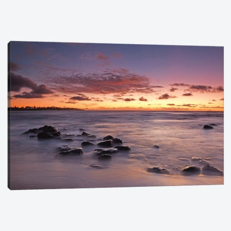 Salt Pond Sunset Canvas Print #BWF273} by Brian Wolf Art Print