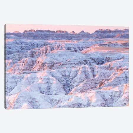 Snow on the Badlands Canvas Print #BWF292} by Brian Wolf Canvas Print