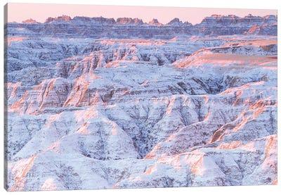 Snow on the Badlands Canvas Art Print
