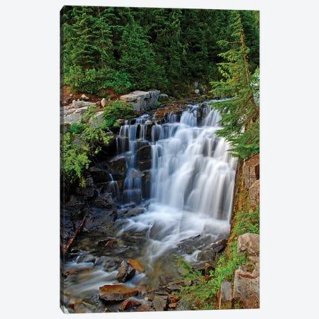 Sunbeam Creek Falls Canvas Print #BWF314} by Brian Wolf Art Print