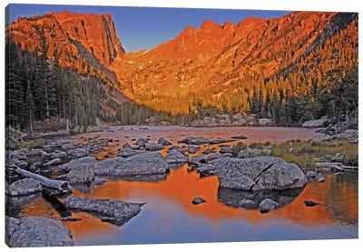 Sunrise On Dream Lake Canvas Art Print