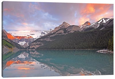 Sunrise on Lake Louise Canvas Art Print