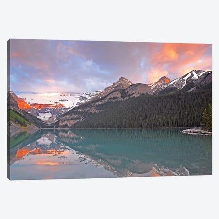 Sunrise on Lake Louise Canvas Print #BWF322} by Brian Wolf Canvas Print