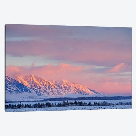 Sunrise On The Teton Range Canvas Print #BWF323} by Brian Wolf Canvas Art Print