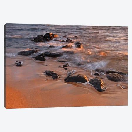 Sunrise Waves  Canvas Print #BWF326} by Brian Wolf Canvas Artwork