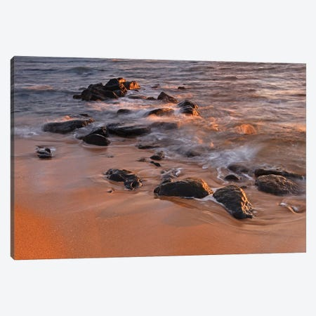 Sunrise Waves  Canvas Print #BWF326} by Brian Wolf Canvas Artwork