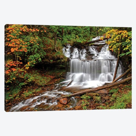 Wagner Falls Canvas Print #BWF363} by Brian Wolf Canvas Print