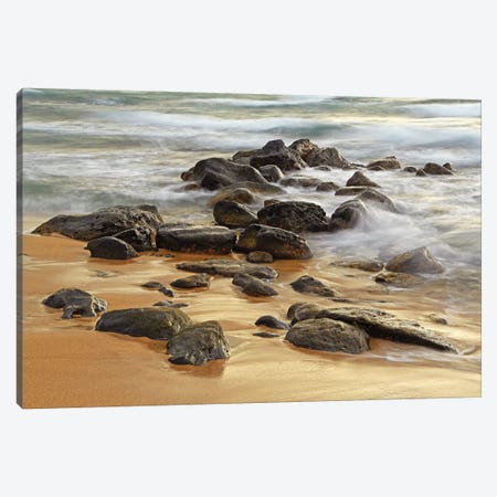 Waves and Rocks Canvas Print #BWF368} by Brian Wolf Canvas Art Print