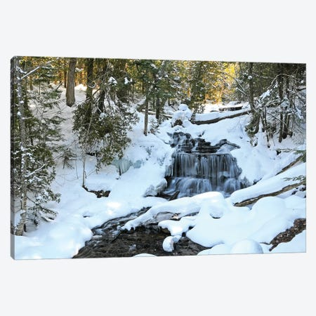 Winter Waterfall 3-Piece Canvas #BWF384} by Brian Wolf Canvas Artwork