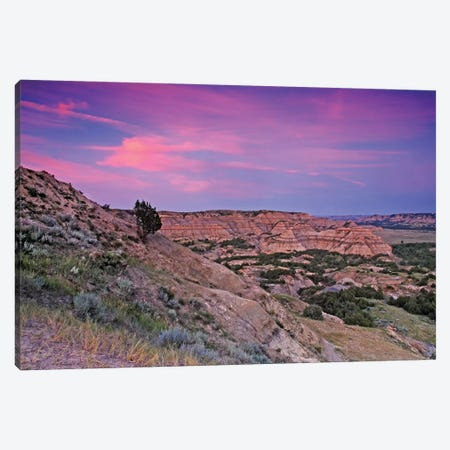 Badlands Sunset Canvas Print #BWF40} by Brian Wolf Canvas Print