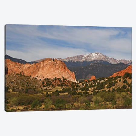 Pike's Peak And Garden Of The Gods Canvas Print #BWF517} by Brian Wolf Art Print