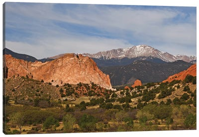 Pike's Peak And Garden Of The Gods Canvas Art Print