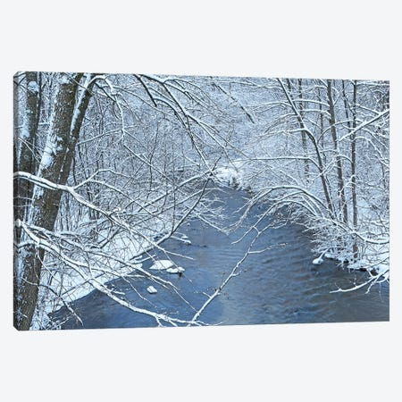 Fresh Snow On The Mecan River Canvas Print #BWF586} by Brian Wolf Canvas Artwork