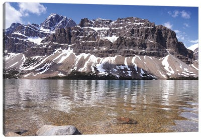 Bow Lake and Crowfoot Mountain Canvas Art Print