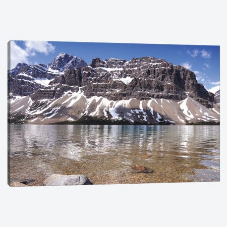 Bow Lake and Crowfoot Mountain Canvas Print #BWF63} by Brian Wolf Art Print