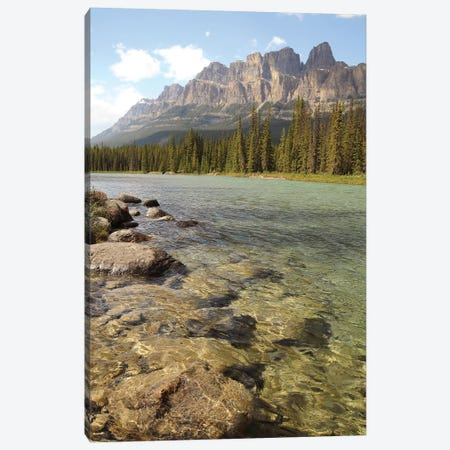 Castle Mountain Canvas Print #BWF76} by Brian Wolf Art Print