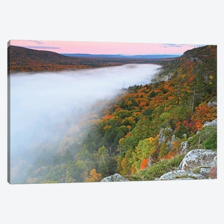 Clouds Over Lake Of The Clouds 3-Piece Canvas #BWF85} by Brian Wolf Canvas Artwork