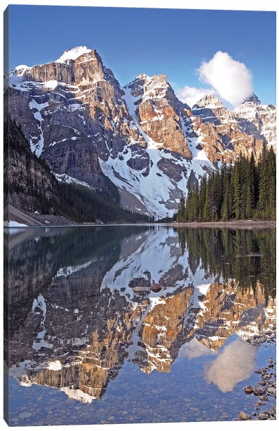 Clouds Over Moraine Lake Canvas Art Print