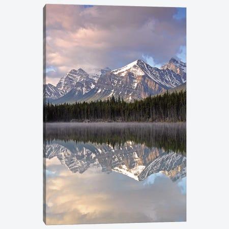 Cloudy Herbert Lake Canvas Print #BWF89} by Brian Wolf Art Print