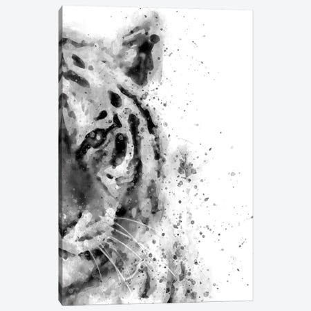 Tiger At Attention Canvas Print #BWO13} by Brandon Wong Canvas Print