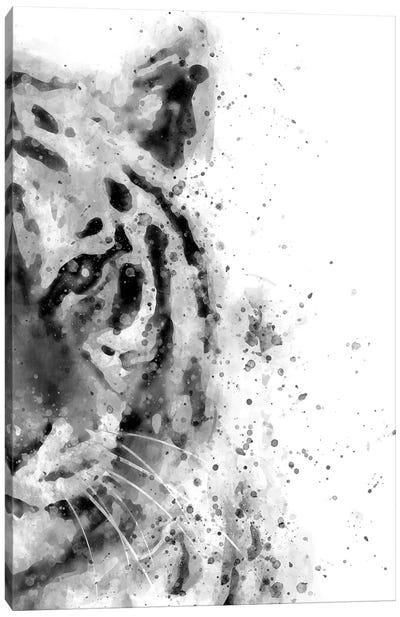 Tiger At Attention Canvas Art Print