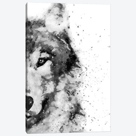 Wolf At Attention Canvas Print #BWO14} by Brandon Wong Canvas Wall Art