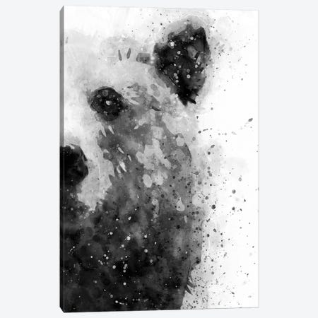Bear At Attention Canvas Print #BWO1} by Brandon Wong Canvas Artwork