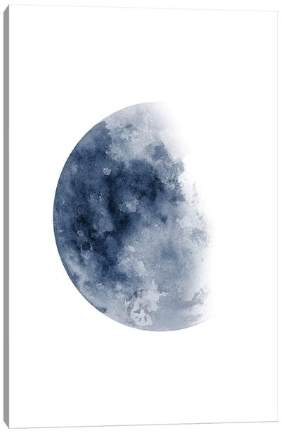 Blue Moon Waning No. 1 Canvas Art Print