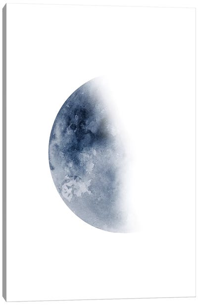 Blue Moon Waning No. 2 Canvas Art Print