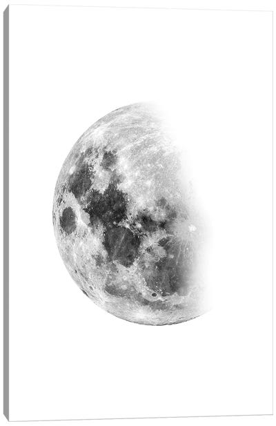 Moon Waning No. 1 Canvas Art Print