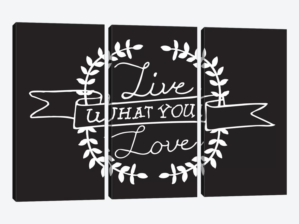 Live What You Love II by 5by5collective 3-piece Canvas Wall Art
