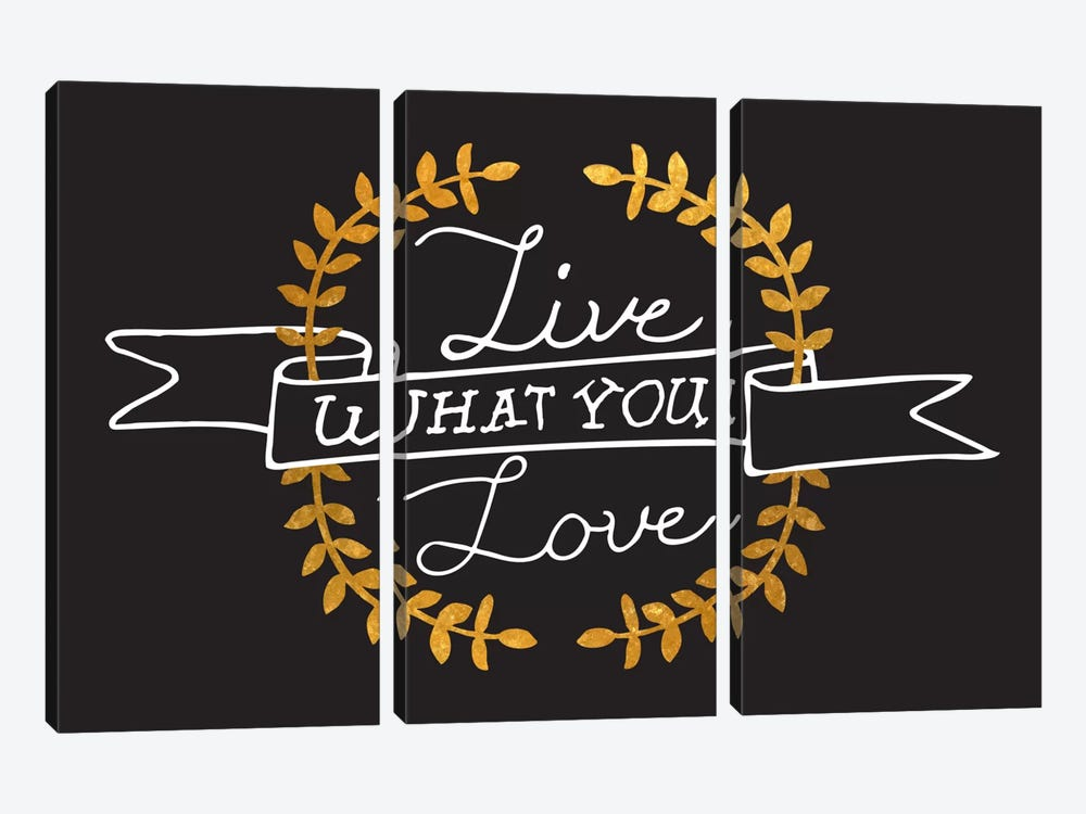 Live What You Love IV by 5by5collective 3-piece Canvas Wall Art