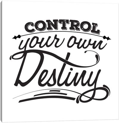 Control Your Destiny I Canvas Print #BWQ20