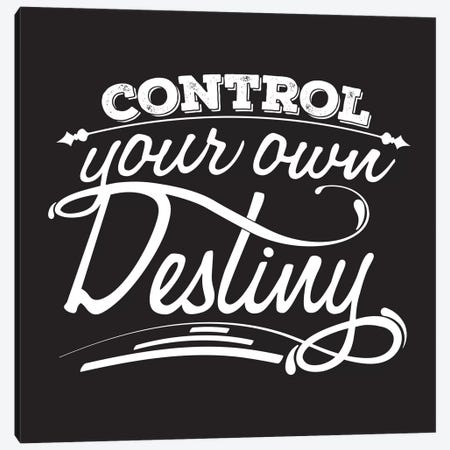 Control Your Destiny II Canvas Print #BWQ21} by 5by5collective Canvas Art