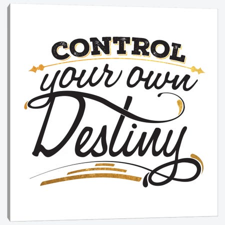 Control Your Destiny III Canvas Print #BWQ22} by 5by5collective Canvas Wall Art