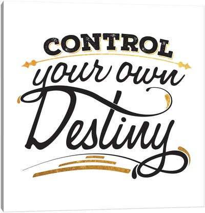 Control Your Destiny III Canvas Print #BWQ22